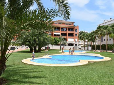 Photo for Modern and nice apartment  with communal pool in Denia, on the Costa Blanca, Spain for 4 persons