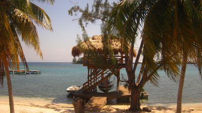 Photo for Utila Dreamer Beach House, located away from town directly across from the Cays
