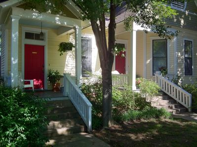 Barkley Cottage is located on a tree-lined street in  Downtown Little Rock