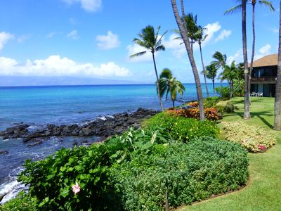 Photo for Walk out onto our ground level Lanai and be just steps from the Ocean!
