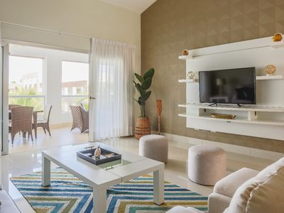 Photo for Luxury 3 Bdrm Beach Apt Sleep 6 Near PUJ Airport Electricity Included Jacuzzi