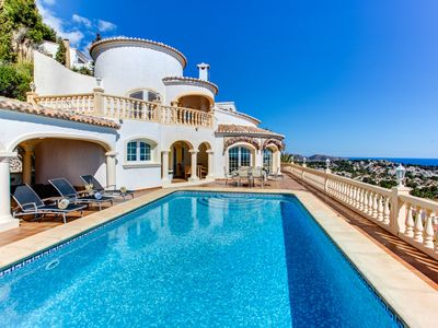 Photo for Outstanding family Villa Montemar with breathtaking panoramic sea views