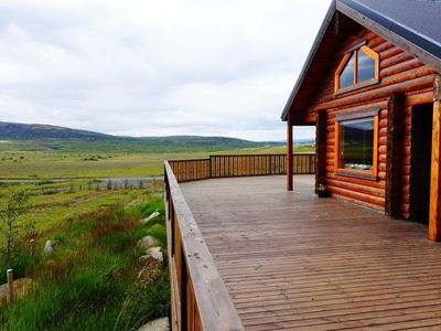 Photo for Cedar Log Cabin, 4 bed, Golden Circle, Iceland