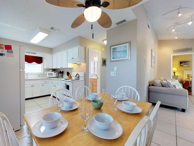 Photo for Dog-friendly duplex with two separate spaces, private pool, blocks to the beach!