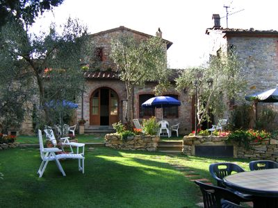 Photo for ideal for 3 families, groups of friends, with jacuzzi, garden, private pool