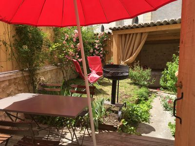 "Photo for Charming cottage ""Le Petit Logis"" with garden and jacuzzi for 4/5 people"