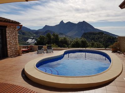 Photo for Beautiful stone built villa, with stunning views and private pool, WIFI and UKTV