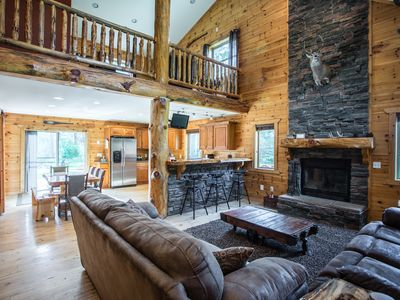 Photo for ***Relax In Style at Moose Lodge! 5BR Luxury Cabin 5 Minutes from Downtown!**
