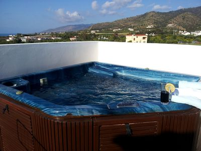 Photo for Penthouse 2 Bedroom Apartment - Heated Jacuzzi - Stunning Sea Views - Pool