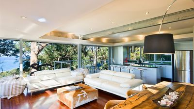 Main Lounge /Open-plan Kitchen, with Breakfast Deck and Views to Lorne Beach