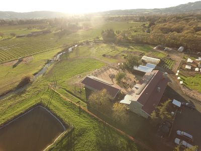 Our six acres shot from above hwy 12-Broadway next door the chic Sonoma Lodge.