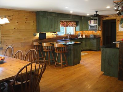 Large country kitchen for many to gather in