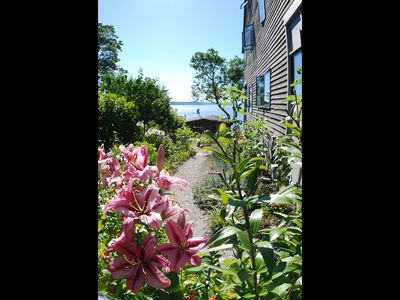 "Photo for ""The Lookout""  Private view patio, 2 Blocks to Beach, No cleaning fee, Sleeps 2"