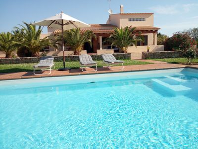 Photo for Comfortable house with pool. A 3 km of Sant Francesc, Es Pujols and beaches.