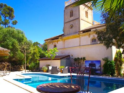 Photo for Magnificent villa for up to 6 people with private pool in Algaida center of the island