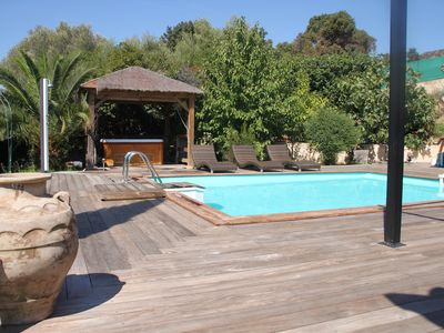 Photo for Spacious and comfortable villa with pool, Jacuzzi, large summer kitchen ....