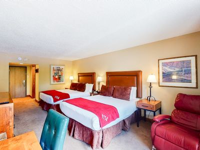 Photo for First-floor room w/dramatic mountain views, shared outdoor pool, hot tub, & more
