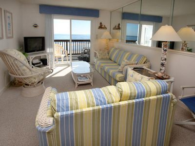 Photo for Beachmaster 304 Lovely 2 Bedroom Condo With Oceanfront Balcony