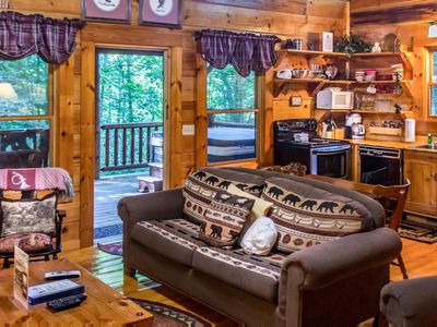 Photo for Cozy Cabin secluded in woods for romantic couples hideaway