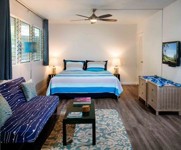 Photo for Enjoy a 5 minute Walk to a sandy beach from this newly renovated modern studio