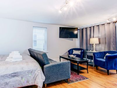Photo for Kindred Spirits: Spacious Suite, King Bed, Walk to Waterfront, eateries & shops, off-street parking
