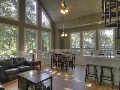 Photo for Stunning Treehouse Cabin w/ Full Amenities! By the Guadalupe River!