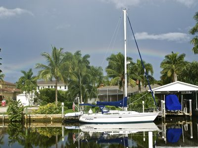 Photo for Charming Waterfront Beach House in Historic Olde Naples