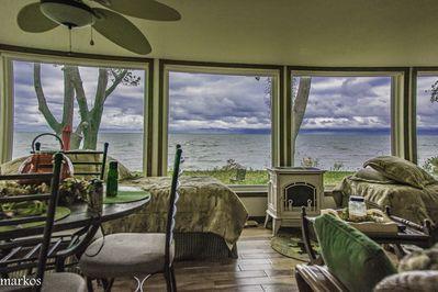 View from the Lake Room taken October 30th beautiful ever changing Lake Erie