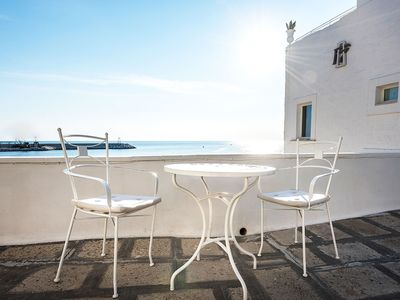 Photo for Apartment for 2 persons with sea view in Monopoli. Exclusive design apartment