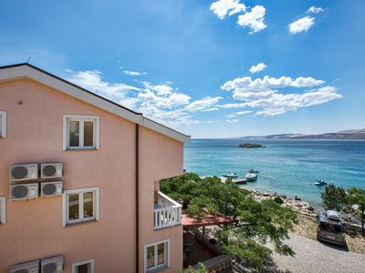 Photo for Apartment Dario directly on the private pebble beach with stunning sea views