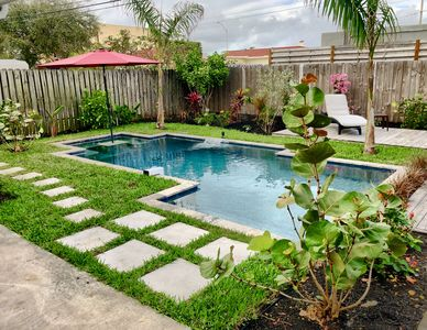 Photo for Modern and Beautiful Pool Home, Mile to the Beach, Walk to Everything!