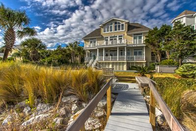New in 2015 beach deck and access