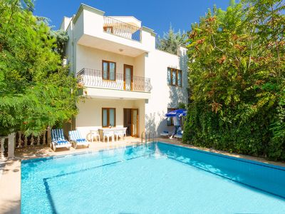 Photo for Villa Limyros: Large Private Pool, Walk to Beach, A/C, WiFi, Car Not Required, Eco-Friendly