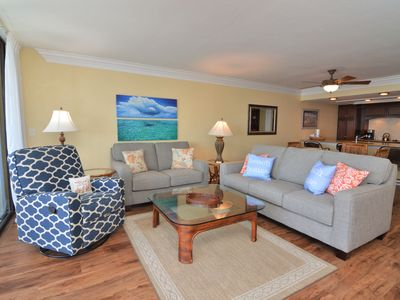 Photo for Condo overlooking beach and water views at Sanibel Harbour Resort - 6th floor