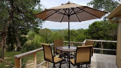 Photo for Charming 2 bedroom house on 5 acres. Rolling views and spectacular deck!