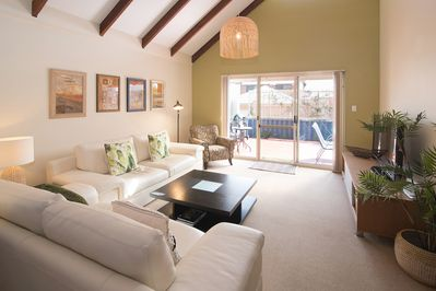 The property is beautifully furnished, relax on the luxurious leather lounges