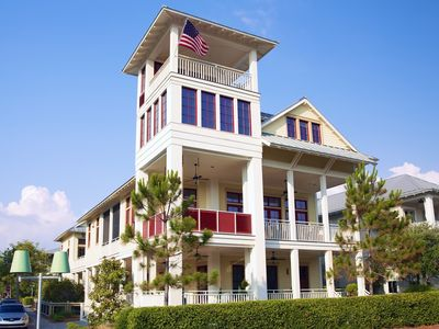 Photo for Beach District 'HAPPY PLACE!' Biggest outdoor living - 9 porches. Private Pool!