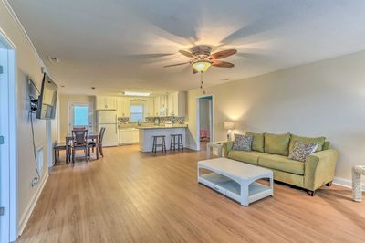 Appreciate the updated spaces of this North Myrtle Beach home!