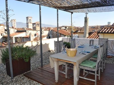 Photo for Apartment in the center of Lucca with Air conditioning, Parking, Terrace, Balcony (640592)