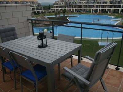 Photo for Costa del Azahar, Appt with pool, tennis, padel in private golf
