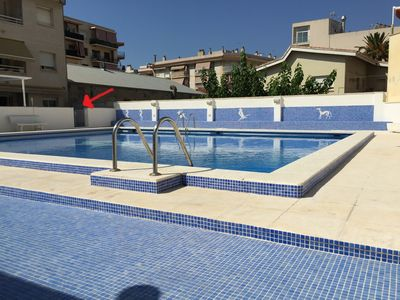 Photo for Family apartment with terrace of 30m² offering direct access to the pool