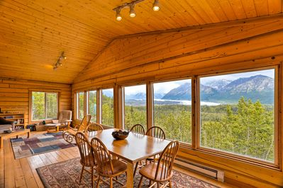 This stunning Glacier View vacation rental sleeps 6 with mtn. views throughout!