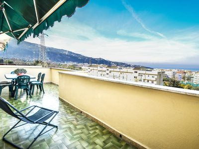 Photo for Sea view apartment Sorrento with sea view
