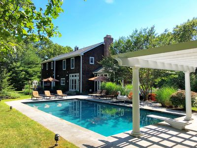 Photo for Relaxing & Peaceful Family House in the Woods with pool and spa