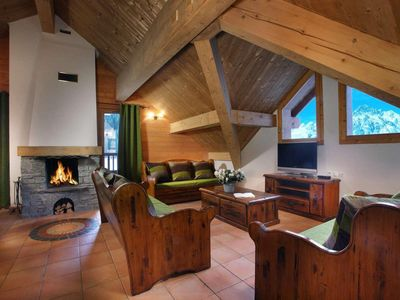 Photo for Surface area : about 115 m². Some in duplex. Living room with fireplace