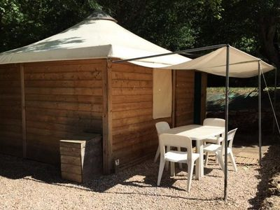 Photo for Camping Fouguières *** - Lodge Toilé Bois 3 Rooms 4 People No Sanitary