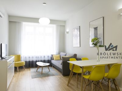 Photo for Królewska Apartments- Mango Yellow /4prsns/ AC/ WiFi/ 10 minutes from the center