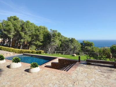 Photo for NEW LISTING.  Large property with breathtaking sea views, located in Aiguafreda, 1.5 km f