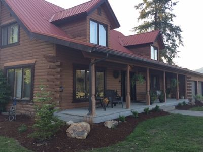 Photo for Log Home Getaway on 7 private acres Close to Wedding venues & River activities