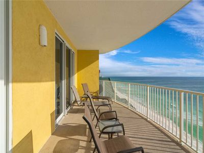 Photo for Twin Palms 1805, Beach Chairs, 2 Bedrooms, Beachfront, Pool Access, Spa, Sleeps 8